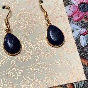 Sitara Collections Jewelry - Gold Plated Lapis Lazuli Earrings